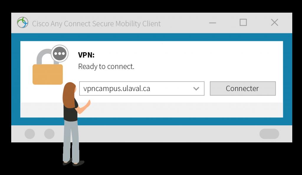 Fenêtre de connexion au VPN