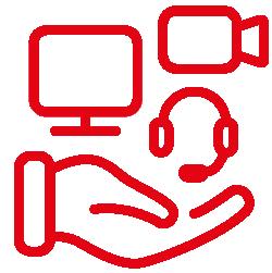 icône prêt de matériel technologique